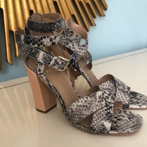 Banana Republic Wrap Ankle Python Heels - New!